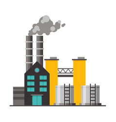 Power plant industrial factory building vector