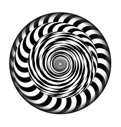 radial spiral with rays psychedelic vector image