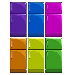 Refrigerators vector image