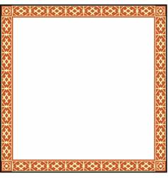 Russian ornamental frame vector image