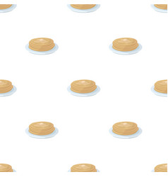 Russian pancakes icon in cartoon style isolated on vector