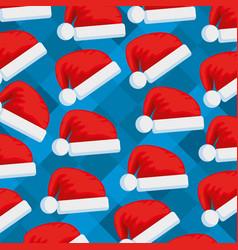 santa claus hats pattern vector image