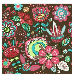 Seamless pattern Magic flowers vector