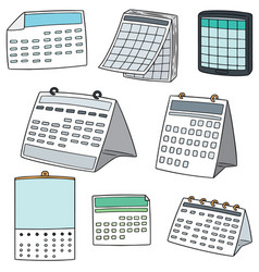 Set of calendar vector