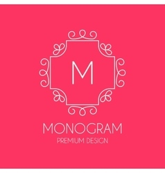 Simple monogram design template vector image