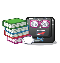 Student with book button page up keyboard vector