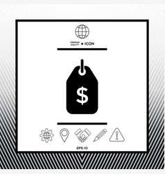 Tag with dollar symbol price tag icon for vector