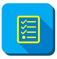 Task List Longshadow Icon vector