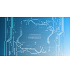 Technology futuristic abstract system cyberspace vector