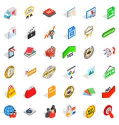 Trademark icons set isometric style vector