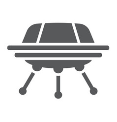 ufo glyph icon space and spacecraft spaceship vector image