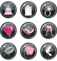 wedding buttons vector image
