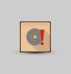 wheel attention icon vector image