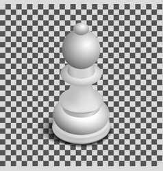 White chess piece bishop isometric vector