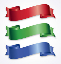 Wide ribbons banner flowing scroll vector