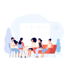woman therapy females consulting vector image