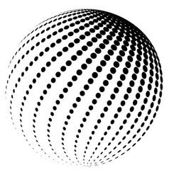 2 halftone globe logo symbol icon design vector image