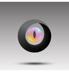 Abstract photographer logo eye concept vector image