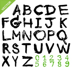 alphabet brush vector image