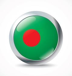Bangladesh flag button vector image vector image