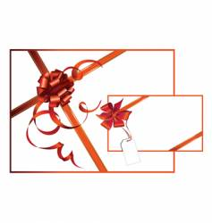 celebratory card with red ribbon vector image