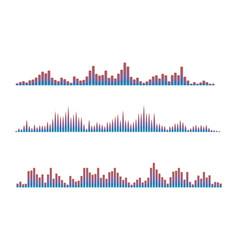 colorful digital waves vector image