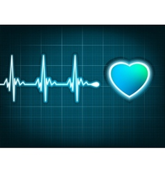 heart beat and a heart EPS 8 vector image vector image