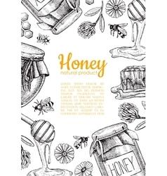 honey bee hand drawn Honey vector image vector image