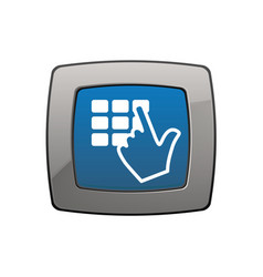 Keypad screen pointer hand vector