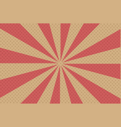 pop art rays background vector image