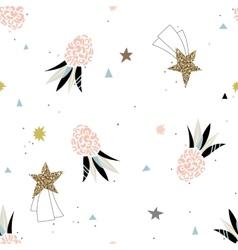 Abstract ananas fashion seamless pattern vector image