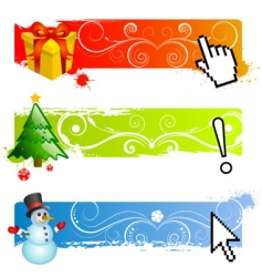 Christmas banner set vector image vector image