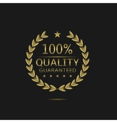 Golden Quality badge vector image vector image