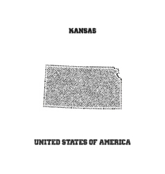 Label with map of kansas vector image