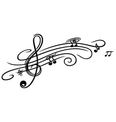 Music sheet clef vector image vector image