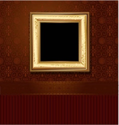 golden picture frame vector image vector image
