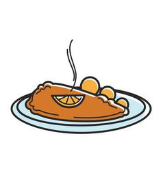 austria wiener schnitzel cutlet austrian tourism vector image vector image