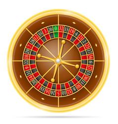 casino roulette stock vector image