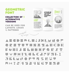 Geometric font collection vector image