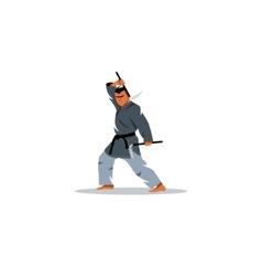 Japanese Kama martial arts sign vector image vector image