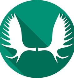 Moose Horns Icon vector image vector image