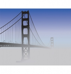 san francisco golden gate bridge vector image vector image