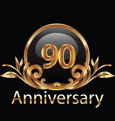 90 anniversary vector image