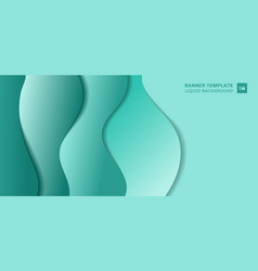 abstract banner template fluid shape layer paper vector image