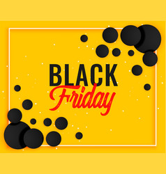 abstract black friday yellow banner design vector image