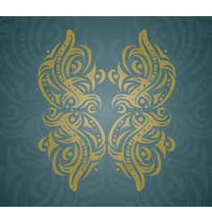 Abstract golden shape vector image