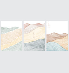 abstract landscape background with line pattern vector image