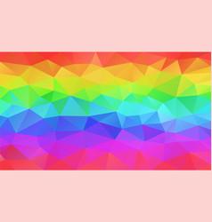 abstract polygonal background neon rainbow vector image