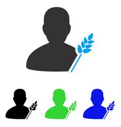 Agriculture farmer flat icon vector