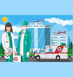 Ambulance staff concept vector